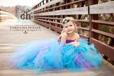 Custom Couture Peacock Feather Infant Toddler by BellaMimiCouture.  Adorable!