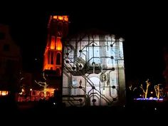 """""""3D projection mapping"""" It is """"The Revival Of the Dragon"""" currently shown in Huis Ten Bosch. An image is projected on the wall of a building. ハウステンボスで、上映されてる..."""