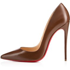 """Christian Louboutin So Kate """"Ada"""" N°6 (£535) ❤ liked on Polyvore featuring shoes, pumps, heels, christian louboutin, louboutin, pointed toe stilettos, christian louboutin shoes, pointed toe pumps, stiletto pumps and leather pointed toe pumps"""