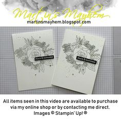A card created using Stampin' Up! Shop for products in the UK, France, Germany, The Netherlands & Austria. Christmas Rose, Stampin Up Christmas, Christmas Cards To Make, Christmas Crafts, Diy Note Cards, Diy Cards, Tarjetas Stampin Up, Homemade Greeting Cards, Paper Artwork
