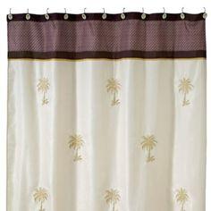 Avanti Oasis Palm 70 Inch X 72 Inch Fabric Shower Curtain    BedBathandBeyond.