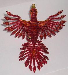 ellis beaded animals: Beaded Animals - Phoenix, her work is amazing!