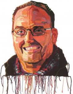 Amazing crochet portraits by @J O Hamilton, #crochet