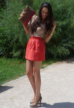 Zara  in Skirt