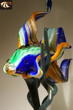 New Design Colorful Murano Glass Fish