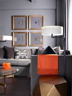 Minimal neutrals will always be in style, but that doesn't mean you can't have a little fun with bold pops of color (here's how to do it).