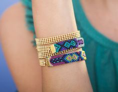 Colores Bracelet Mexican woven link friendship by shlomitofir