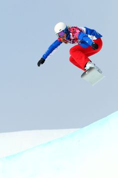 Chloe Trespeuch of France during the Ladies' Snowboard Cross Seeding (c) Getty Images