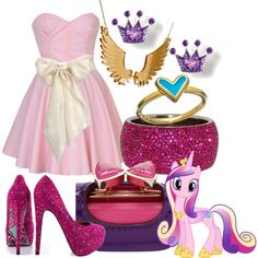 How to cosplay as Princess Cadence. My Little Pony Clothes, My Little Pony Dress, My Little Pony Costume, My Little Pony Princess, My Little Pony Party, Character Inspired Outfits, Disney Inspired Outfits, Themed Outfits, Disney Outfits