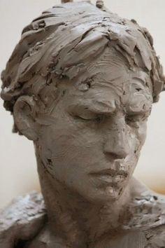 Christophe Charbonnel was born in Nantes in Sculpture Head, Human Sculpture, Pottery Sculpture, Art Du Monde, Modelos 3d, Jolie Photo, Art Plastique, Clay Art, Ceramic Art