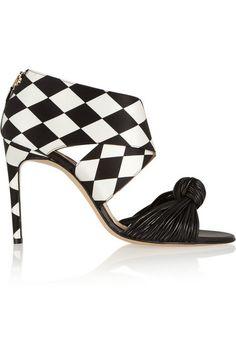 aa0c45448e2c Bionda Castana - Gabriella printed satin and leather sandals