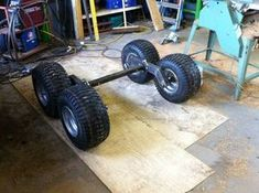 After a year or so of research, I've finally started my atv trailer build. Tandem walking axles, possibly multi-body, tipping trailer. Five feet. Atv Dump Trailer, Quad Trailer, Log Trailer, Trailer Diy, Trailer Plans, Trailer Build, Atv Utility Trailer, Utv Trailers, Trailer Axles