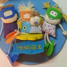 Porta maternidade personalizada familia mergulho www.ateliecolorir.com.br