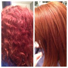 Violet red to Copper Red!!! Red Hair Barbara Tucker