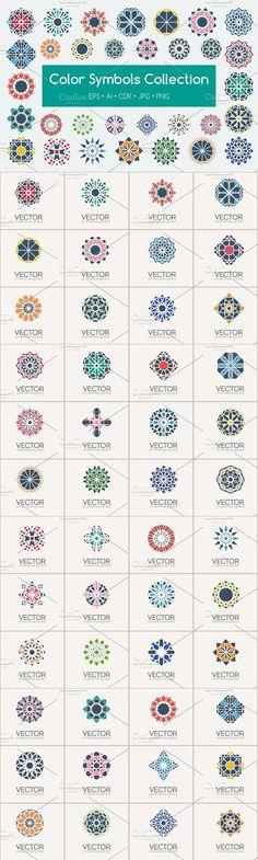 48 Color Symbols . Islamic Icons