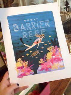 Great Barrier Reef Art Print $40