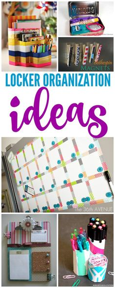 I have some AWESOME Back to School Locker Organization Ideas for you today! Thes… I have some AWESOME Back to School Locker Organization Ideas for you today! These are perfect for keeping lockers organized, so be sure to check them out! via Heather Middle School Lockers, Middle School Hacks, Diy Back To School, School Plan, School Kids, School Stuff, School Goals, School Locker Organization, Girls Room Organization