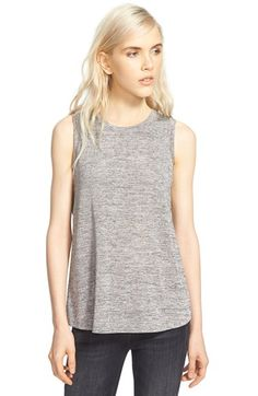 Sam Edelman 'Isla' Metallic Knit Cross Back Tank available at #Nordstrom