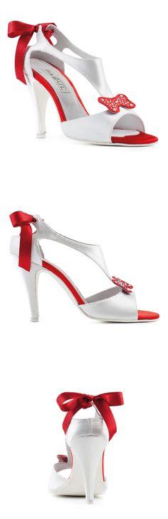 SANDALO #BIANCO E #ROSSO 910_100I, Wedding & Gala ----- #WHITE AND #RED SANDAL 910_100I, Wedding & Gala ----- #Paoul #weddingshoes #galashoes #shoes #womenshoes