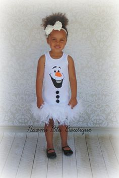 Disney Inspired Frozen Olaf Feather Dress. Great for by NaomiBlu, $49.00 Frozen Party Idea
