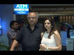 Sridevi with Boney Kapoor at Amar Singh's bash.