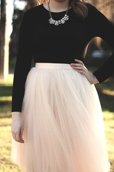 With Love, Amanda - Styling a tulle skirt from Lulu's