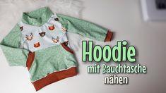 Hoodie mit Bauchtasche - Nähanleitung OHNE Schnittmuster - Für Anfänger ...