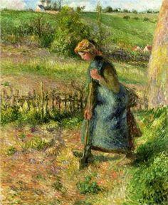 Woman Digging - Camille Pissarro