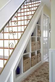 20 Under staircases storage space concepts Staircase Storage, Stair Storage, Cupboard Storage, Sewing Room Storage, Storage Spaces, Storage Ideas, Shelves In Bedroom, Bedroom Storage, 1920s House