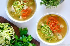 Spiralizer Recipes: Zucchini Noodle Chicken Soup Recipe