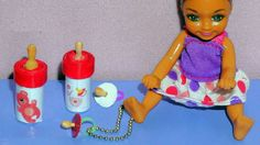 How to make a miniature baby bottle and pacifier for doll - easy crafts DIY