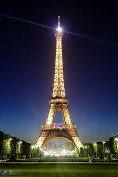 The Eiffel Tower in Paris France is amazing at night (it sparkles)! :) The Eiffel Tower will always be a special reminder of being proposed to in Paris! <3