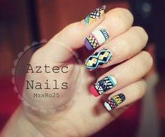 Aztec Nail Art ❤ - YouTube