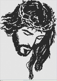 cristo at DuckDuckGo Religious Cross Stitch Patterns, Cross Patterns, 3d Origami, Filet Crochet, Cross Stitching, Pixel Art, Needlework, Religion, Embroidery