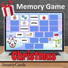 Keep those noggins sharp AND enjoy some Christmas fun. This holly jolly memory game is designed to be played with teams on an interactive whiteboard. Sure winner! Interactive Christmas Games, Free Christmas Games, Christmas Activities, Christmas Fun, Fun Classroom Activities, Classroom Fun, Memory Games For Kids, Educational Games For Kids, Matching Cards