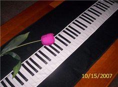 Piano KeyBoard Table Runner