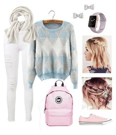 """""""Pastel and Braids"""" by perpendicularpurple ❤ liked on Polyvore featuring Frame Denim, Hype, Marc by Marc Jacobs, Converse and Wrap"""