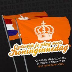 Ben je een ontwerper of ken jij er één?  Wil je boven de rest uitsteken met een unieke vlag? Ga dan aan de slag, stuur ons je mooiste ontwerp en win jouw eigen Koninginnedagvlag!  #qday #oranje #ontwerper #design #vlag #koningin #koninginnedag #win #gratis #actie #promo   https://www.facebook.com/drukwerkdeal/app_197602066931325