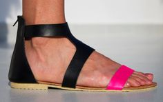 Pink Goddess Leather Sandals  Womens Shoes  Any Colors by SHUNAMI, $50.00