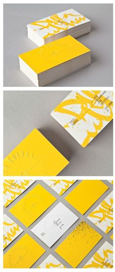 Optimism, warmth, joy, and pleasure. Create an orange or yellow business card if you want to convey these feelings to your potential clients or customers. Discover More Orange/Yellow Business Cards on Our Board! Corporate Identity, Corporate Design, Business Card Design, Visual Identity, Identity Branding, Minimal Business Card, Personal Identity, Modern Business Cards, Creative Business