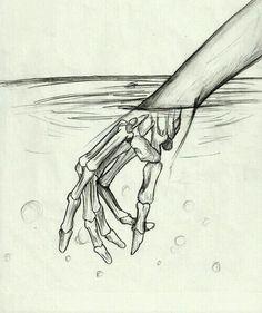 Hand, water ,   xray