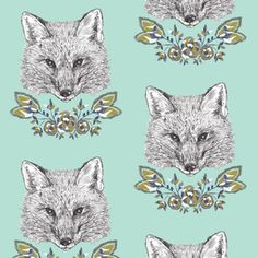 Hawthorne Threads - Forest Fables - Foxy Loxy in Light Aloe