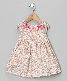 $19.99 Pink Floral Bow Dress - Infant, Toddler & Girls