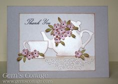Teapot and Cup by Gem35 - Cards and Paper Crafts at Splitcoaststampers