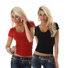 Sexy Strick Top Pulli V-Ausschnitt Shirt Stricktop Pullover NEU Einheitsgröße