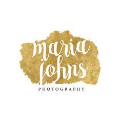 Gold Foil Premade Photographer Logo - Boutique Branding Etsy Shop Logo -Gold Photographer Logo Design (jld63)