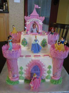Disney Princess Castle Cake Disney party Pinterest Disney