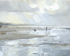 Seascape winter # 10 Fisherman and Water Reflections by Roos Schuring