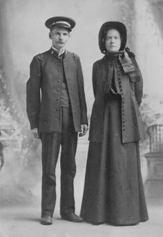This is my grandparent's wedding picture, 1890. Dressed in their Salvation Army uniforms.