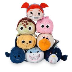 Finding Nemo Tsum Tsum Collection - Squirt, Bruce, Sheldon, Pearl, Darla, Deb, Nigel, and Gill